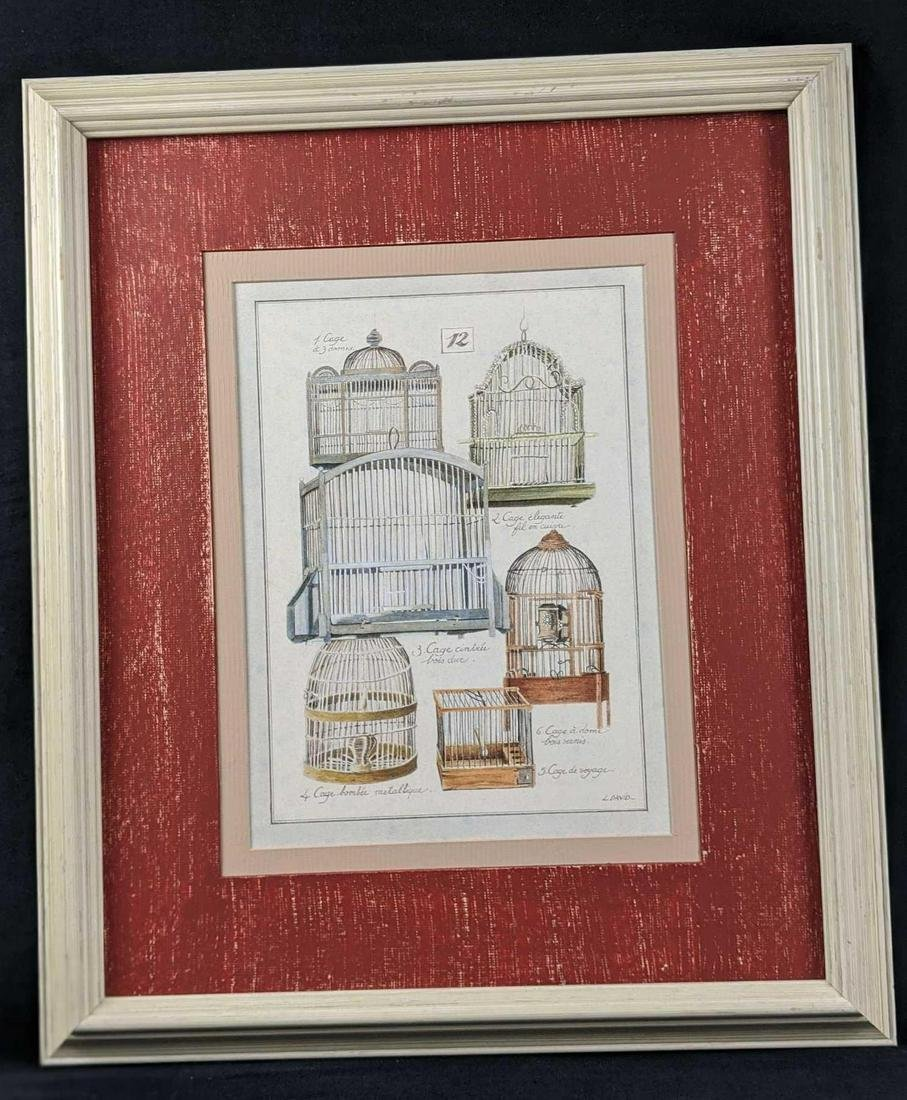French Birdcage Framed Print By L David B