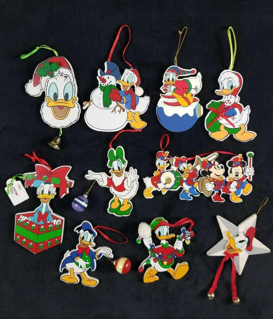 Lot of 10 Walt Disney Company Christmas Wooden