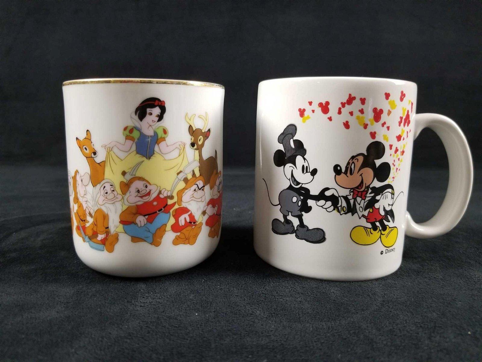 Lot Of 2 Vintage Walt Disney Mickey Mouse Snow White