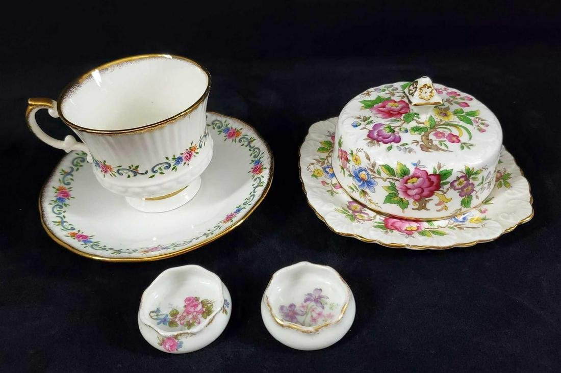 Vintage English And French China Tea Lot Of Six