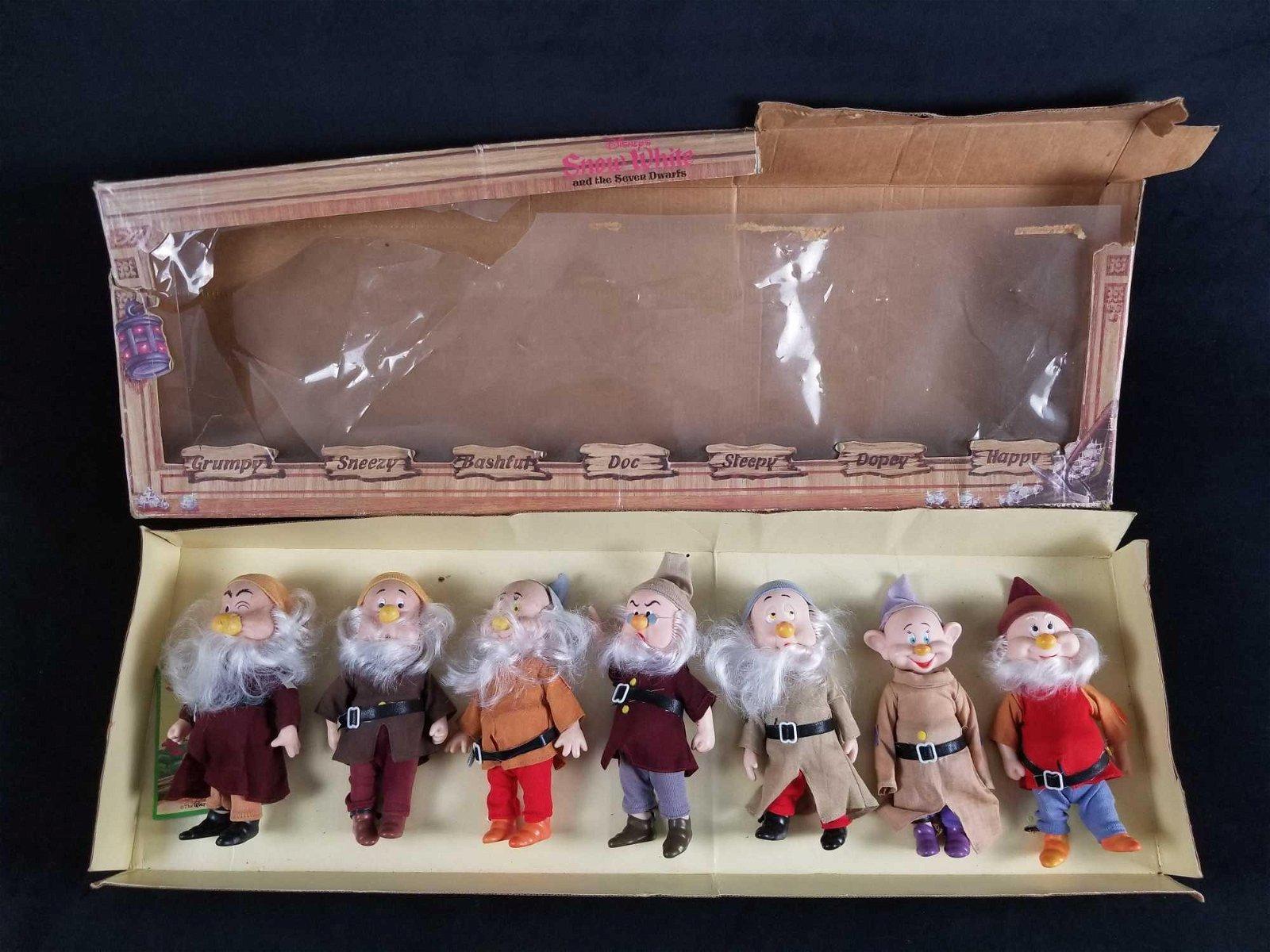 Vintage Snow White Seven Dwarfs Toy Dolls Figures Bikin
