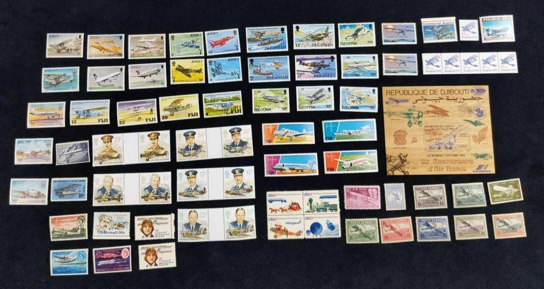 Travel Stamps From All Over The World Lot Of 69