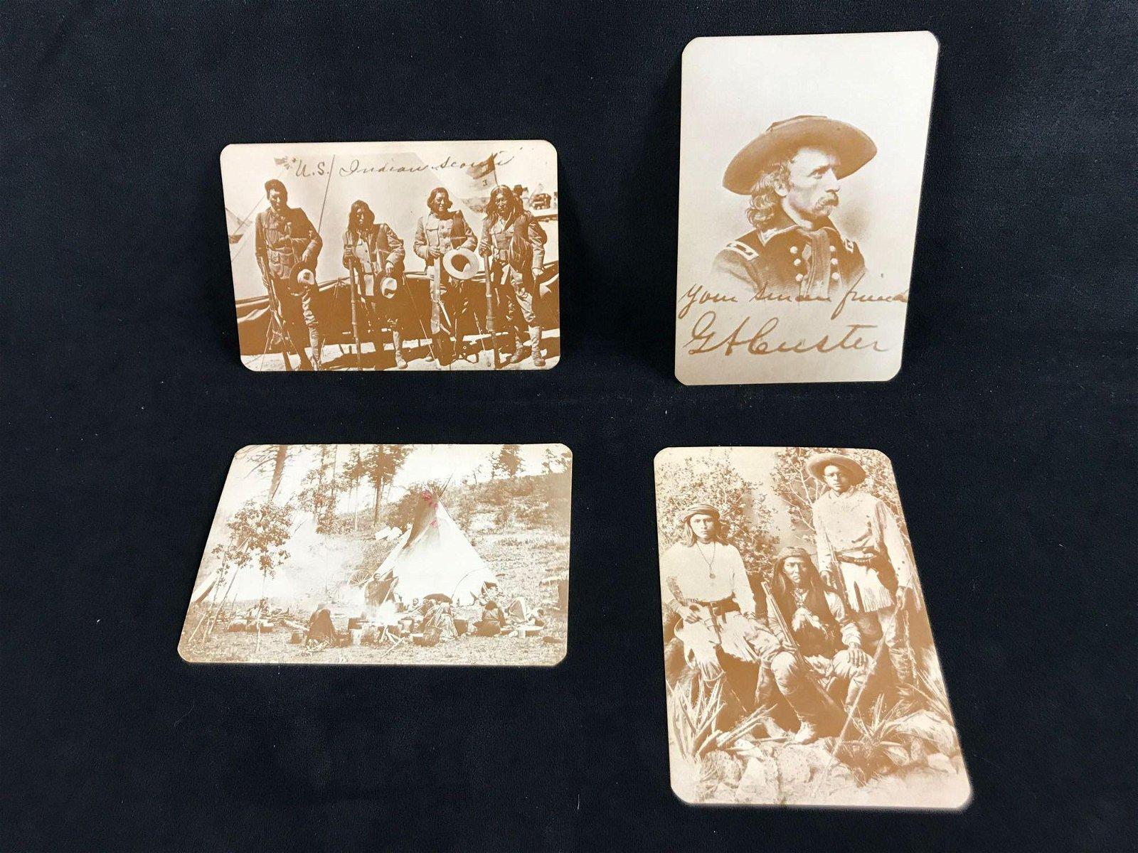 Vintage Western Postcards Custer Native Americans