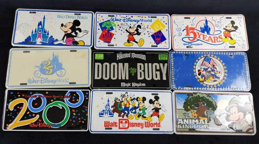9 Walt DIsney World License Plates Haunted Mansion A