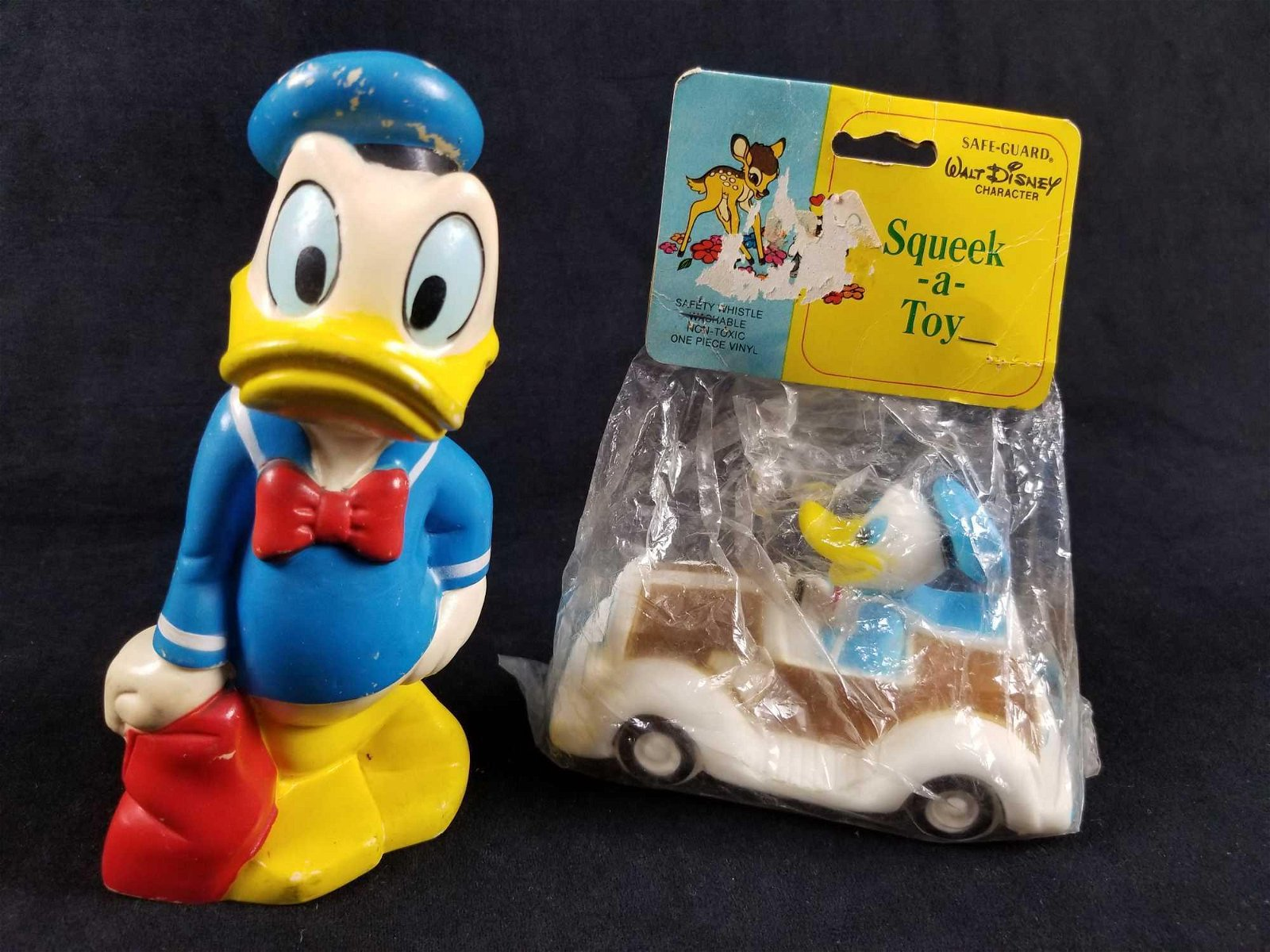Disney Vintage Donald Duck Squeaky Toys