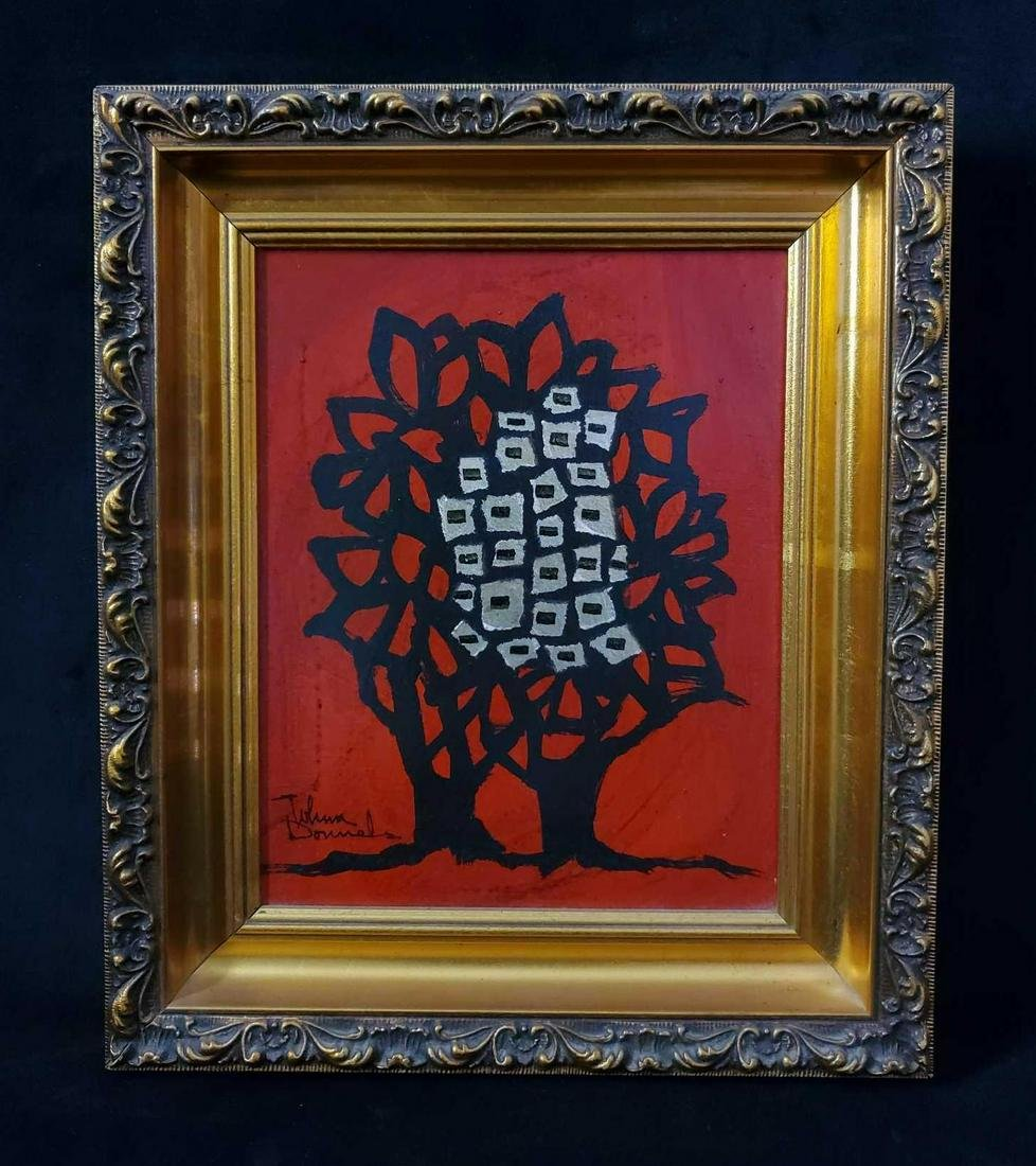 Vintage Johnny Donnels Original Framed Acrylic Art