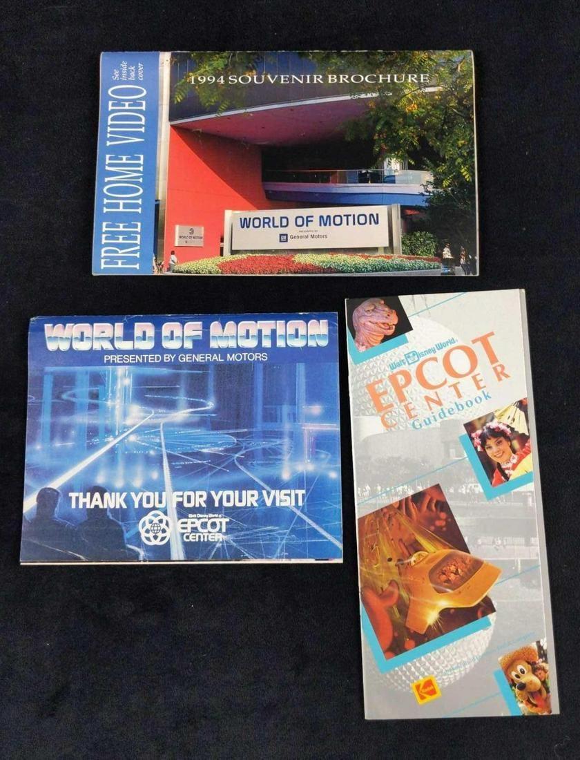3 Vintage Disney World Epcot World Of Motion Guides