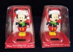 Disney Mickey Mouse Christmas Solar Bobblehead