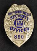 Vintage Rare Disney World Security Shirt Badge A