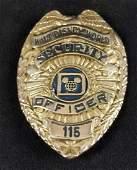 Vintage Rare Disney World Security Shirt Badge C