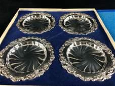 Original Vintage 1941 Wallace Baroque 4pc Silver Plated