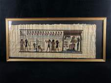 """Antique Hand Painted Signed """" The Final Judgement"""""""