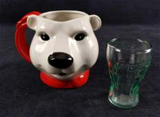 Coca Cola Polar Bear Mug And Mini Coke Glass