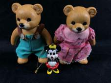 Vintage HOMOCO Ceramic Bear Set #1415 & Minnie Mouse