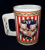 Christmas Teddy Bear Candy Cane Mug Houstin Foods