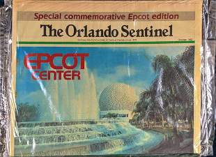 Vintage Disney World Epcot Special Newspapers