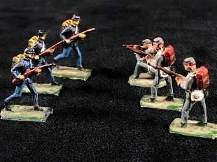 """Vintage 1"""" Miniature Civil War Hand painted Lead"""