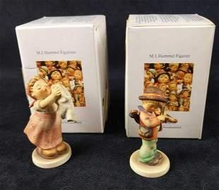 2 Vintage Goebel Hummel Figurines W Boxes And COAs