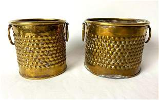 Vintage India Brass Trinket Box Containers / Planters