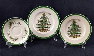 Spode English Christmas Tree Fine China Lot Of 18