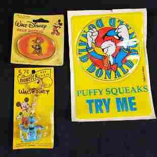 Lot of 3 Vintage Disney Donald Duck Trinkets