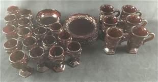 Set of Vintage 1950s Avon Ruby Red Cape Cod Glassware