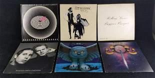 Six Classic Rock Folk Rock Vinyl LPs Queen Rush