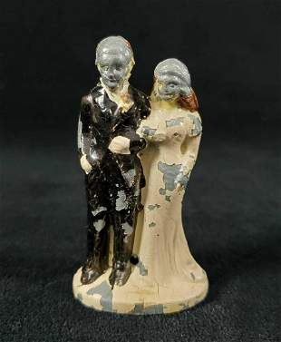 Barclay Lead Wedding Cake Topper 1940s