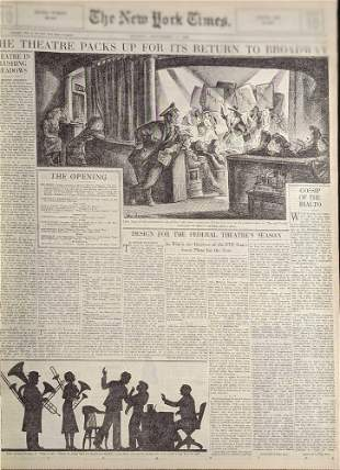 Vintage Bound New York Times Newspaper Sept 1 To 15