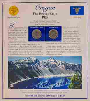 America The Beautiful State Quarters & Stamps Oregon