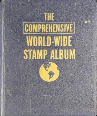 Vintage The Comprehensive Worldwide Stamp Album