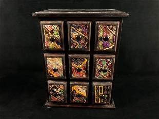 Vintage Miniature Table Top Cubbyhole Chest