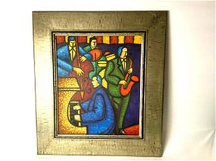 Contemporary Original Signed Oil On Canvas Abstract