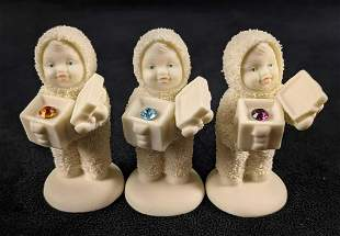 3 Snowbabies A Gift For You Birthstone Figurines
