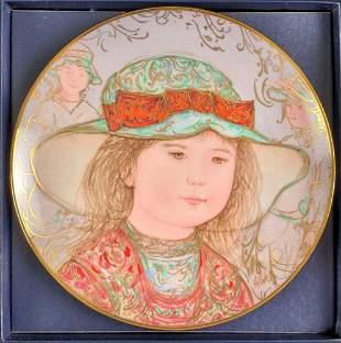Edna Hibel Collectors Plate Children Tribute Wendy