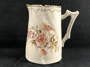 Antique West Germany Hand painted flower Pitcher