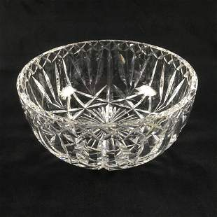 Vintage Waterford Fine Clear Cut Crystal Bowl