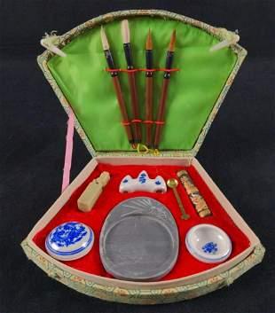 Vintage Chinese Calligraphy Art Supply Kit B