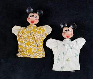 Vintage Disney Hand Puppets Mickey Lot A