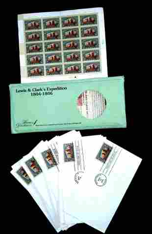 US Post Lewis And Clark First Day Stamp Sheet Bundle