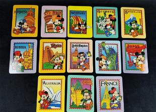 13 Rare EPCOT World Showcase Mickey Mouse Postcards