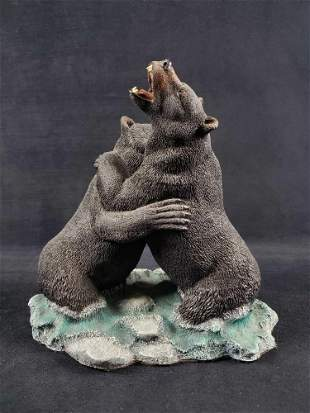 LE Bears Wet and Wild Sculpture by Gary Stevenson
