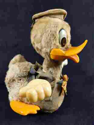 Antique Donald Duck Plush Battery Operated Toy