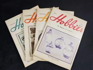 Vintage Hobbies Magazine Lot Of Four