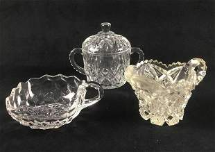 Collection of Three Crystal and Cut Glass Items