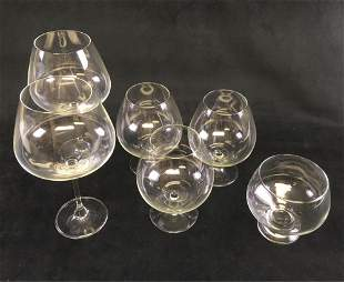 Classic Barware Collection of 6 Fine Crystal Glass
