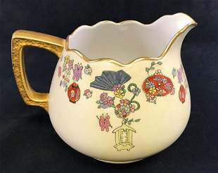 Antique Australian Hand Painted Porcelain Pitcher