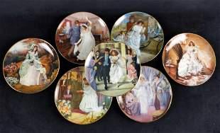 7 Portrait of American Bride LE Plates Hamilton