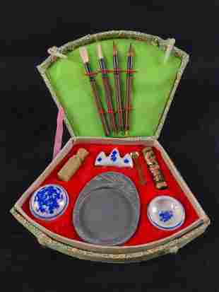 Vintage Chinese Calligraphy Art Supply Kit A