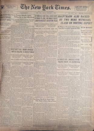 Vintage Bound New York Times Newspaper Feburary 1 To 15